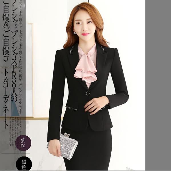 OL套裝~*艾美天后*~西裝外套+裙or褲職業女裝商務西服修身顯瘦正裝套工作服