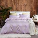 床包被套組 天絲緹花/四件式雙人薄被套床包組/典雅花開[鴻宇]M2558