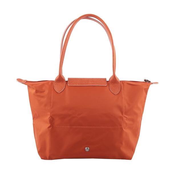 【LONGCHAMP】S號長把LE PLIAGE CLUB摺疊水餃包(橘色) L2605 619 P39