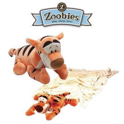 美國 Zoobies 三合一多功能玩偶毯/毯子/毛毯【正版授權】- 跳跳虎 Tiger (禮盒裝)
