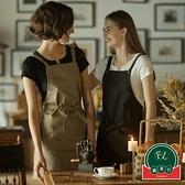 牛仔工作圍裙家用廚房圍裙防油定制烘焙咖啡美甲工作服【福喜行】