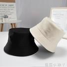 兩面漁夫帽女日系春夏季薄款旅游純色大檐帽太陽帽遮陽百搭帽子潮 蘿莉新品