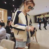 外套女春秋正韓學生bf寬鬆春裝新品短款原宿風百搭港風棒球服