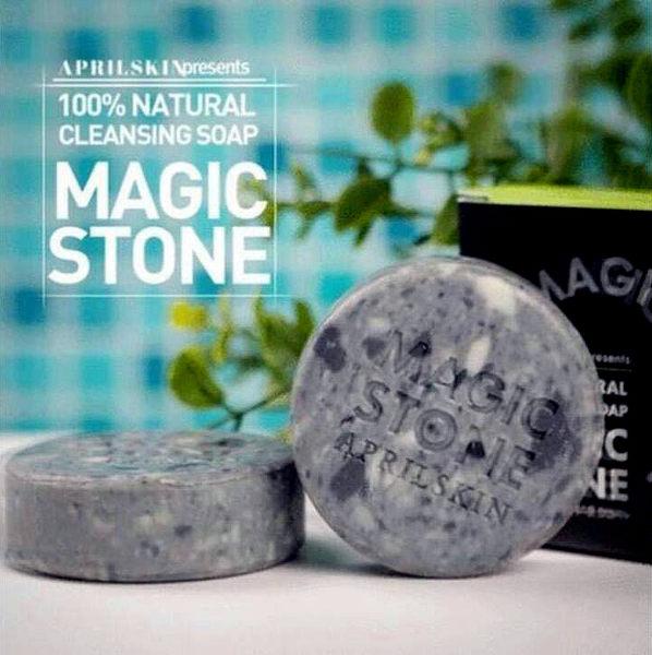 ★ 【April Skin 韓國魔法石潔面皂-MAGIC STONE (White/Black)】★