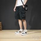 五分褲男夏季超薄款寬鬆馬褲工裝短褲男潮流休閒中褲 快速出貨