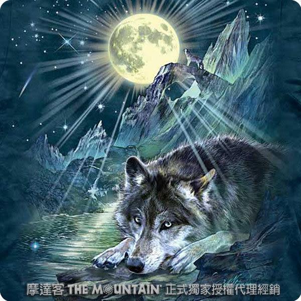【摩達客】 (預購) 美國進口【The Mountain】自然純棉系列 夜狼協奏曲 T恤(10413045111a)