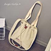 高質感側背包。簡約帆布學院風女包包 (SBA0208) AngelNaNa