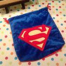 【發現。好貨】超人Super Man標誌經典藍色抽繩束口袋拍得利相機包收納袋雜物袋