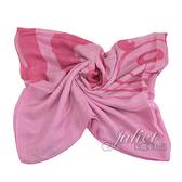 茱麗葉精品【全新現貨】MOSCHINO 03631 M1728 撞色LOGO小熊混紡絲質圍巾.桃粉