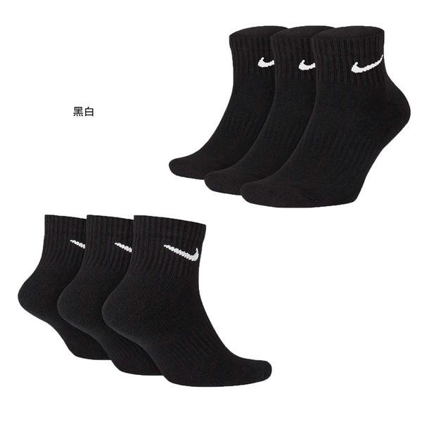 NIKE 三入運動短襪 (三雙入 中筒襪 慢跑 襪子≡體院≡