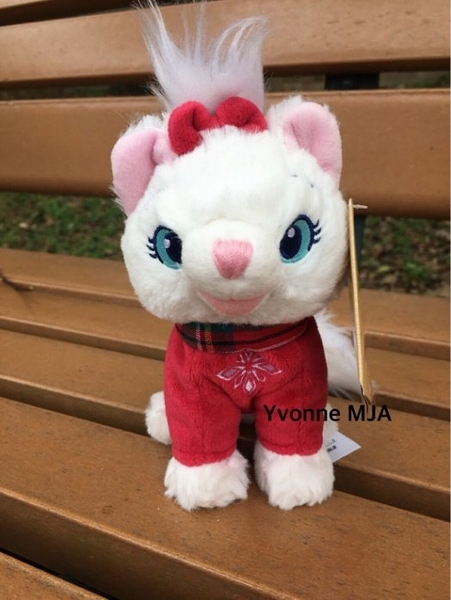 *Yvonne MJA*美國迪士尼Disney 商店限定正品2017聖誕精裝版超限量 瑪麗貓 小型娃娃