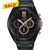 【限時搶購! 領券3880元】ALBA 雅柏 情人節限量計時手錶-黑/43mm VD53-X264K(AT3B11X1)