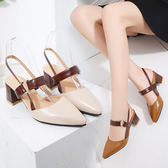 ★KEITH-WILL★ (預購) 時尚穿搭名媛必備款粗跟鞋
