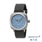 【官方旗艦店】BRISTON 手工方糖錶 天藍色錶盤 不銹鋼框 百搭實用 男士經典款 禮物首選
