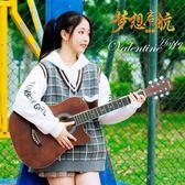 38寸初學者民謠木吉他學生練習青少年入門男女練習 熊熊物語