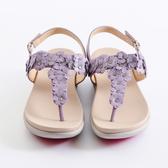 DeSire  花片裝飾休閒拖鞋 -紫