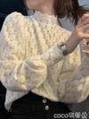 熱賣蕾絲打底衫 氣質仙女鏤空磨毛內搭蕾絲打底衫秋冬新款半高領洋氣小衫超仙上衣【618 狂歡】