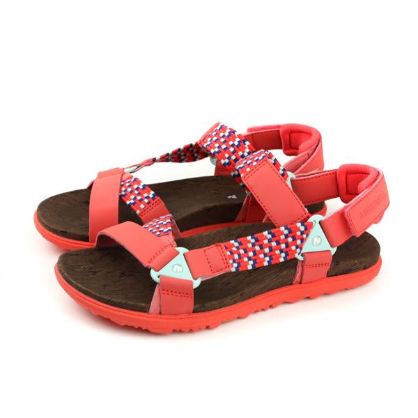 MERRELL AGROUND TOWN SUNVUE WOVEN 涼鞋 橘紅色 女鞋 ML94150 no897