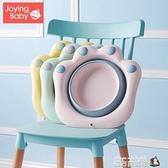 初生新生嬰兒童用品可摺疊洗臉盆洗屁股卡通PP用寶寶小盆子 聖誕節全館免運