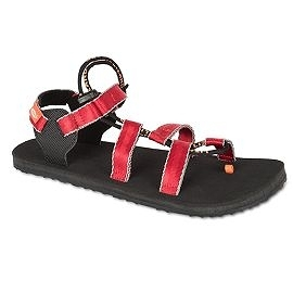 Lizard 巴特Ⅱ黃金底輕涼鞋 夾腳可調 LI11558 PR紅幾何 女款 義大利製 水陸鞋 織帶涼鞋【易遨遊】
