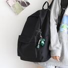 後背包 NR百搭純色大容量背包男雙肩包黑色書包女大學生背包女雙肩大小款