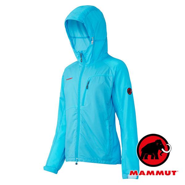 【MAMMUT 長毛象】女 單件式防水外套 (輕量設計) GLIDER 太平洋藍 1010-25370 防風外套 (非GORE-TEX)
