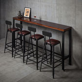 店慶優惠-吧台椅 鐵藝實木歐式吧檯椅吧凳現代簡約椅子酒吧椅高腳凳子 BLNZ