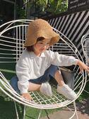 辰辰媽春夏季女寶寶漁夫帽蕾絲小草帽1-3歲外出兒童太陽遮陽帽子