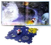 (二手書)太空探險出發囉(書+軌道拼圖板四塊+太空船玩具)