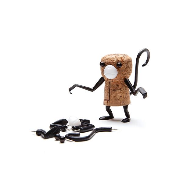 創意造型軟木塞裝飾 猴子 - Monkey Business