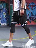 籃球短褲男運動褲五分褲黑白色經典籃球訓練褲寬鬆透氣跑步健身褲 貝芙莉