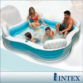 【INTEX】方型有靠墊透明泳池(56475) +手機防水袋(59800)