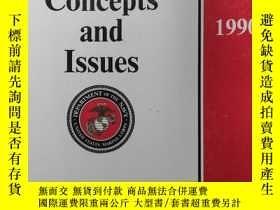 二手書博民逛書店MARINE罕見CORPS CONCEPTS AND ISSUES 1990Y168439