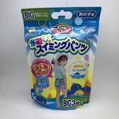 日本 GOON 大王游泳尿布-海豚男款 Big號 3入 (4941)  -超級BABY