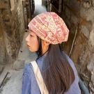 頭巾帽 小姚自留敲愛的寶藏款!摩登年代懷舊報紙風格懶人頭巾帽堆堆帽子寶貝計畫 上新