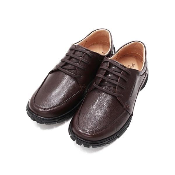 【南紡購物中心】SAPATOTERAPIA巴西經典止滑耐磨皮鞋 男鞋-深咖