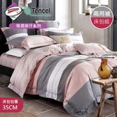 【R.Q.POLO 】使用3M吸濕排汗專利-醒春 天絲兩用被床包四件組