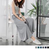 OB嚴選《BA2278-》百搭素色飄逸感抽繩綁帶長褲裙.6色--適 S~XL