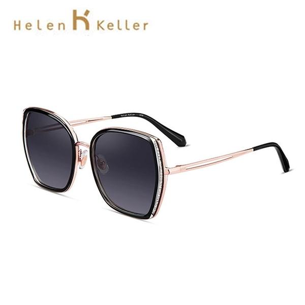 【南紡購物中心】【SUNS】Helen Keller 林志玲同款潮流時尚百搭幾何大框墨鏡 抗UV(H8830)