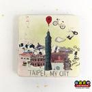 【收藏天地】台灣紀念品*雙面隨身鏡-台北,我的城市 ∕小物 送禮 文創 風景 觀光  禮品