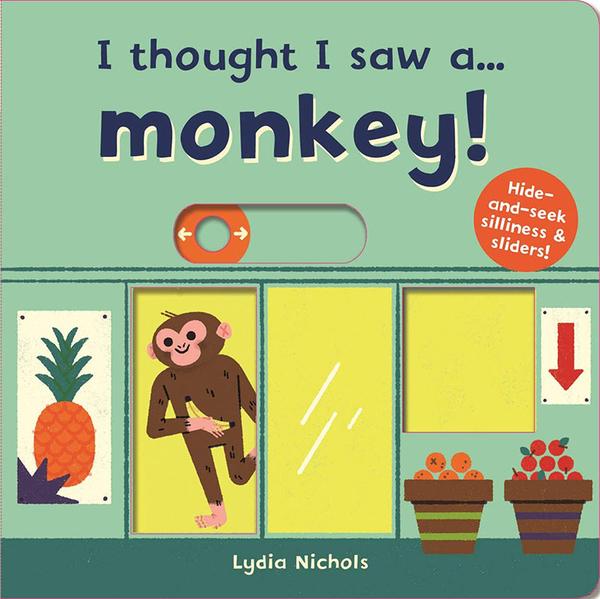 【麥克書店】I THOUGHT I SAW A MONKEY幼兒操作硬頁英文童書《超市/購物體驗》