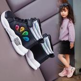 兒童靴子女新款短靴洋氣2019秋冬季女童鞋中大童男童靴小女孩棉靴    依夏嚴選