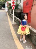 女童童裝兒童洋氣洋裝新款寶寶純棉白雪公主裙子潮 伊莎公主
