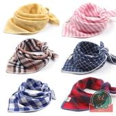 純棉紗方巾寶寶三角巾口水巾紗布嬰兒圍巾兒童頭巾薄【聚可爱】