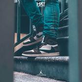 IMPAC Nike Air Jordan 1 High OG TS 咖啡色 倒勾 饒舌歌手Travis Scott 設計 限量 CD4487-100