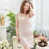 【岱妮蠶絲】0C5004E純蠶絲42針70G緞面包邊圓領背心襯裙(珠粉)
