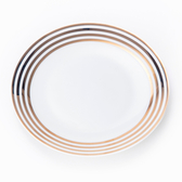 HOLA 緻金骨瓷平盤 16.5cm 迴圈 可適用微波爐及洗碗機