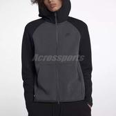 Nike 連帽外套 Sportwear Tech Fleece Hoodie FZ 黑 灰 男款 刷毛 【PUMP306】 928484-060