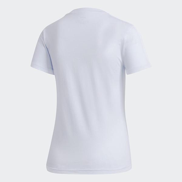 ADIDAS ESSENTIALS 3-STRIPES 女裝 短袖 慢跑 休閒 經典 修身 基本款 淡藍【運動世界】GD3036