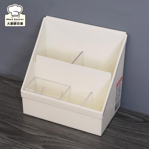 聯府好學桌上盒3號附隔板直立式收納盒階梯式整理盒OA-053-大廚師百貨